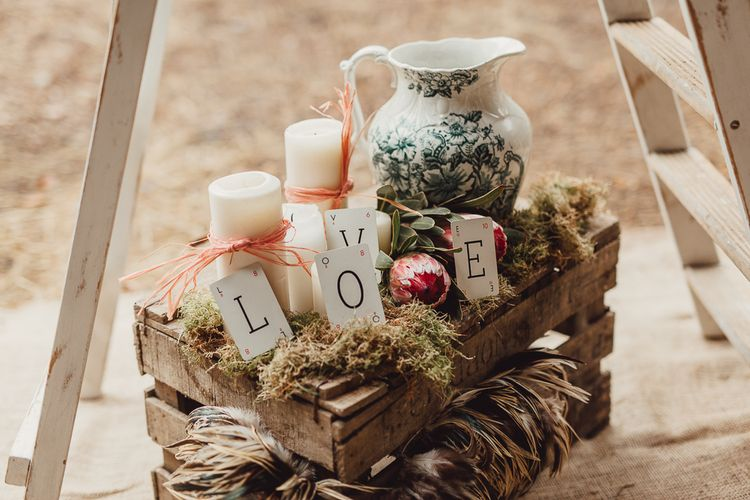 Rustic Luxe Wedding Decor from Little Jem | Lexicon Cards | Country Boho Inspiration in the Woodlands of Happy Valley Norfolk | Cara Zagni Photography