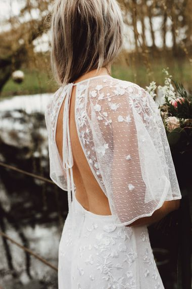 Boho Bride in Backless ASOS Dress |  Country Boho Inspiration in the Woodlands of Happy Valley Norfolk | Cara Zagni Photography