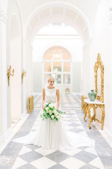 Lartington Hall Venue, Bride in James Alexander Images by Sarah Jane Ethan Photography
