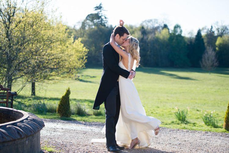 Bride in Caroline Castigliano at  Botley's Mansion, Surrey Image by Especially Amy