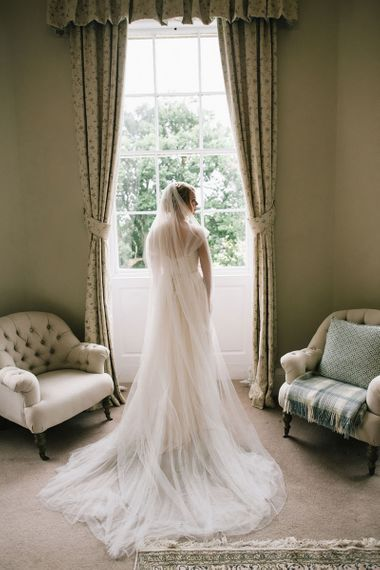 Bride in Maggie Soterro at Middleton Lodge Photography by Georgina Harrison Photography