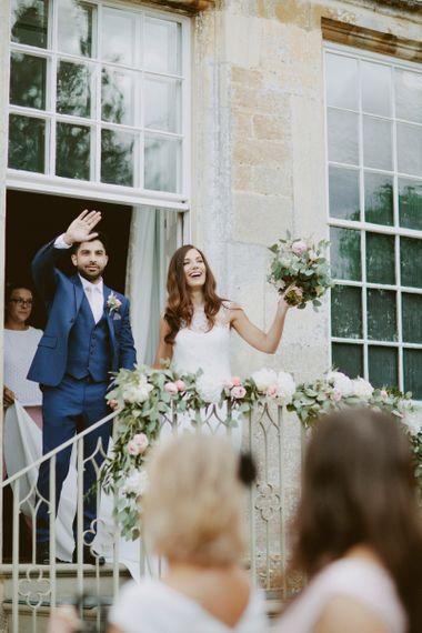 Elmore Court Wedding Venue Bride in Pronovias Images by David Jenkins Photography