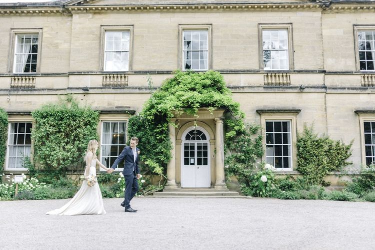 Jenny Packham Bride and Groom in Next at Middleton Lodge images by Sarah-Jane Ethan Photography