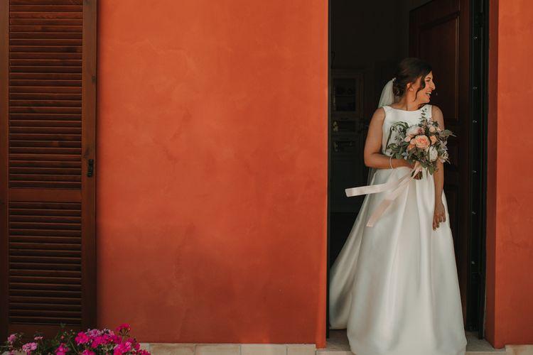 Rosa Clara wedding dress for Italy wedding
