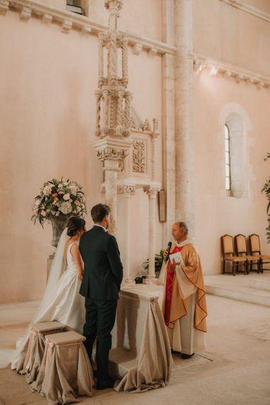 Rosa Clara wedding dress and veil