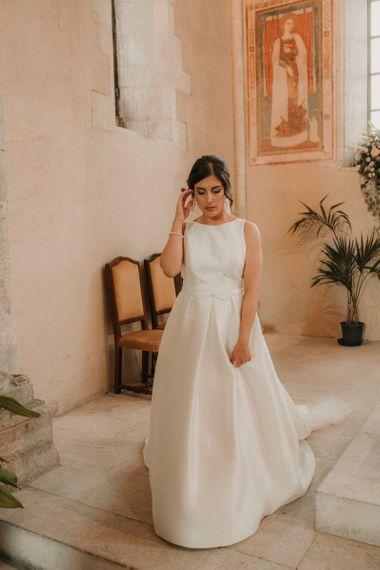 Satin Rosa Clara wedding dress