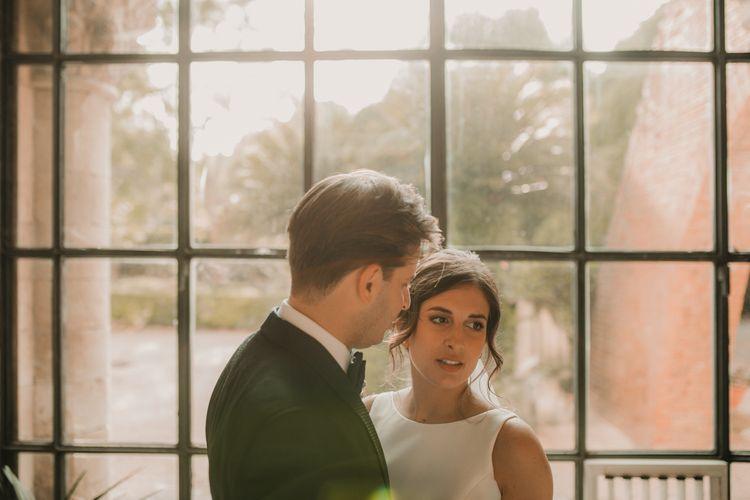 Italian wedding with bride and groom
