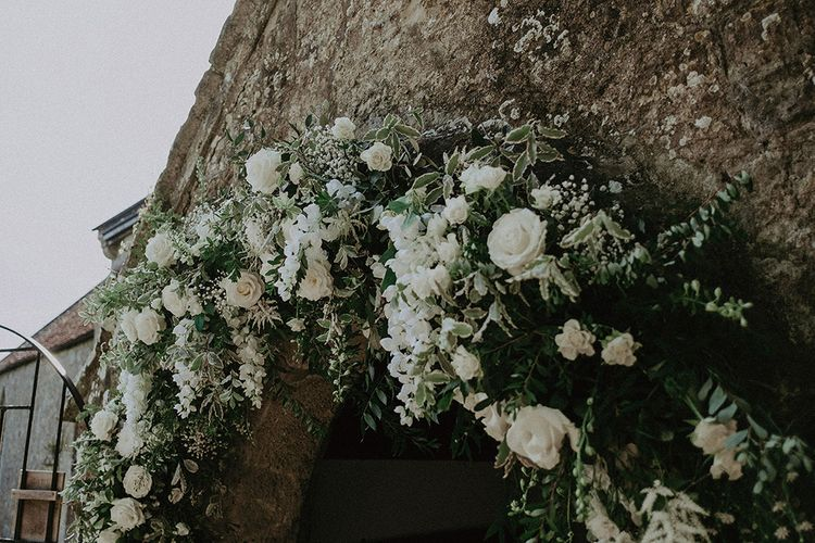 White and Green Church Wedding Flowers