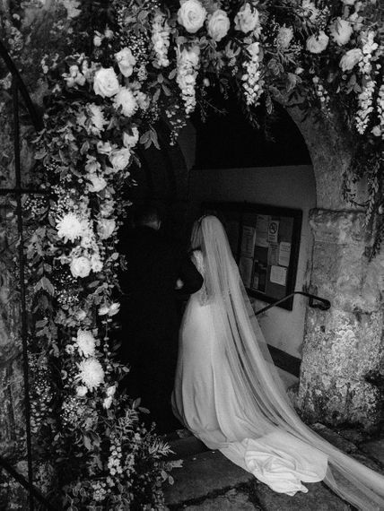 Church Bridal Entrance in St Patrick Wedding Dress