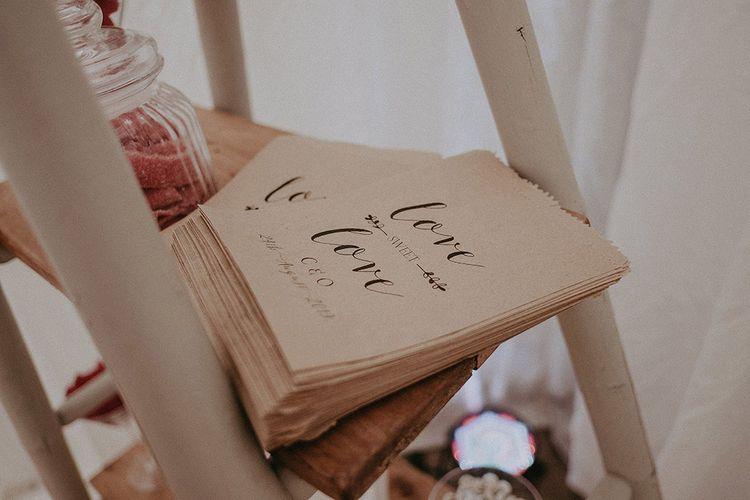 Personalised Brown Paper Bag Sweet Table Bags