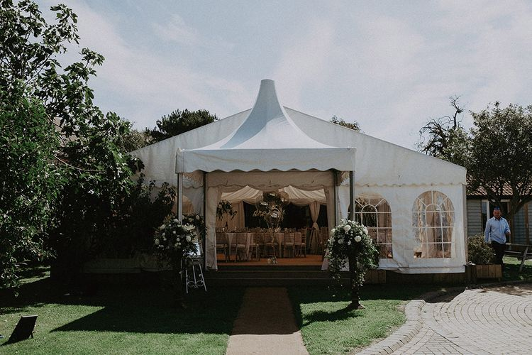 Marquee Wedding Reception at East Afton Farmhouse Wedding Venue on Isle of Wight