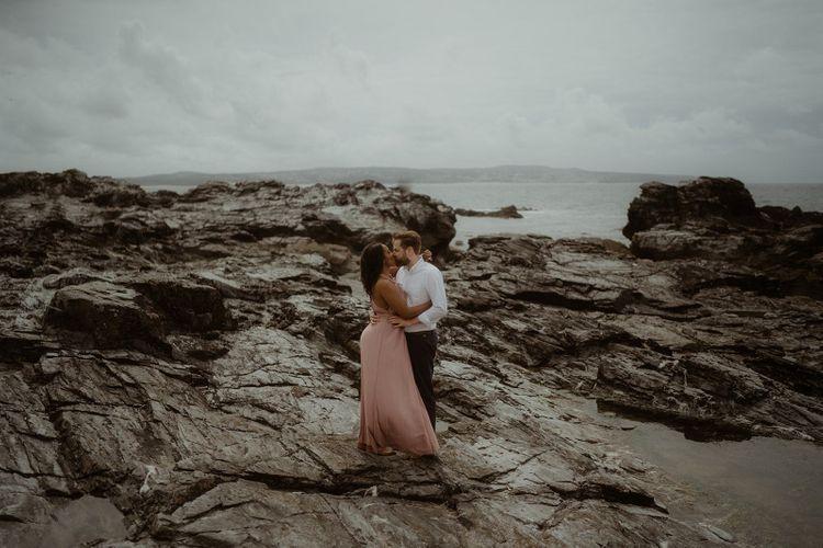 Godrevy beach pre wedding photographs by Emily Black Photography