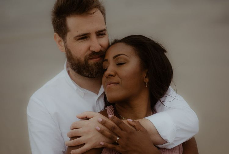 Intimate couples portrait by Emily Black Photography