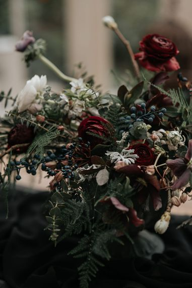 Floral | Dark & Dreamy Celestial Wedding Inspiration by Save the Date Event Stylist at East Bridgford Hill, Nottingham | Pear & Bear Photography