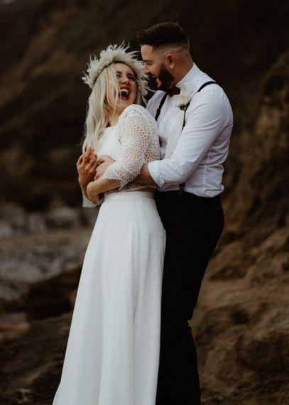 Intimate wedding photography at Devon elopement