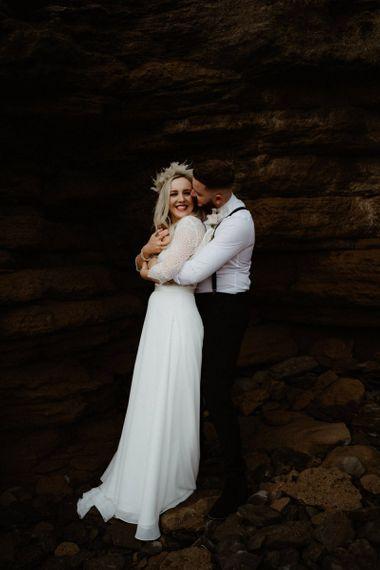 Intimate wedding portrait at Devon Elopement by Emily Black Photography