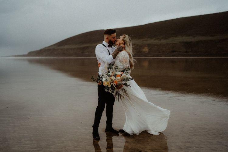 Intimate beach, devon elopement photography by Emily Black