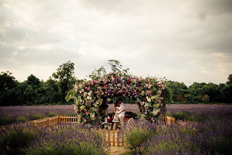 Floral Installation   Dima and Nady, Engaged   Mayfield Lavender Fields   www.harrymichaelphotography.com 2018