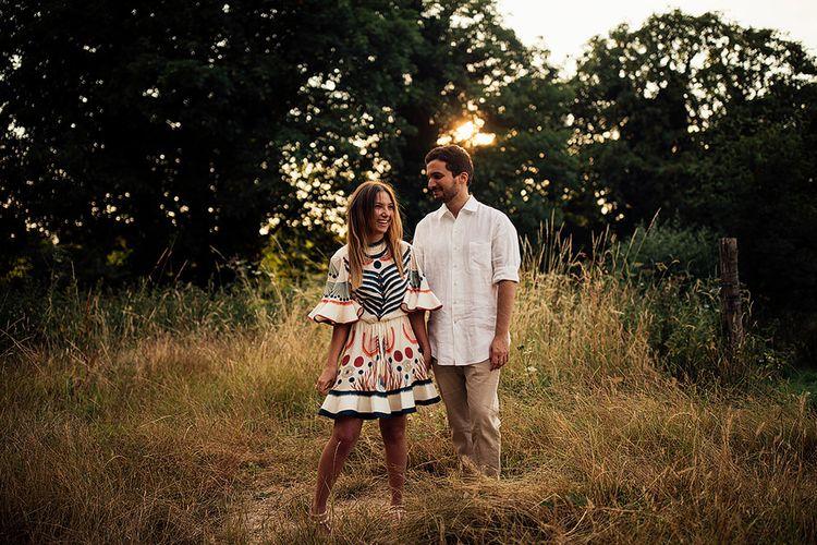 Surprise Marriage Proposal Engagement Shoot at Sunset   Golden Hour Portraits   Pre Wedding Shoot   Couples Portraits   Mayfield Lavender Fields   Chloe Dress   Harry Michael Photography
