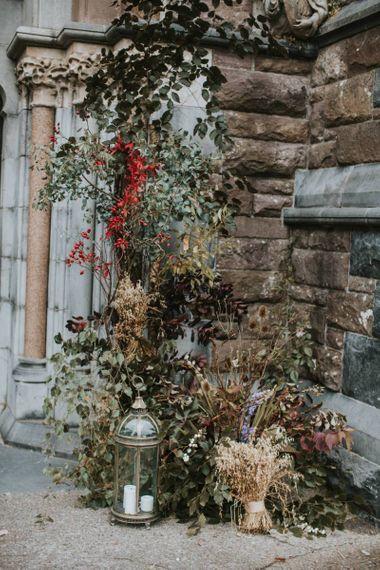 Dried Foliage and Grasses Floral Arrangement