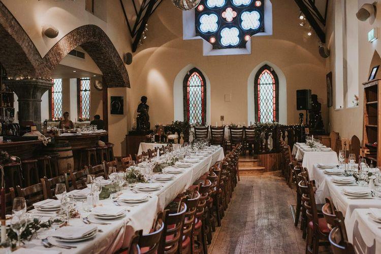 Pub Wedding Reception in an Old Church