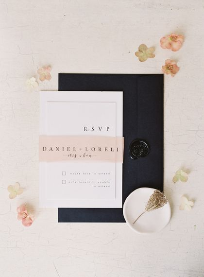 Navy, Pink & White EYI Love Wedding Stationery Suite | Elegant Summer Inspiration at St Giles House, Dorset by Jessica Roberts Design   Imogen Xiana Photography