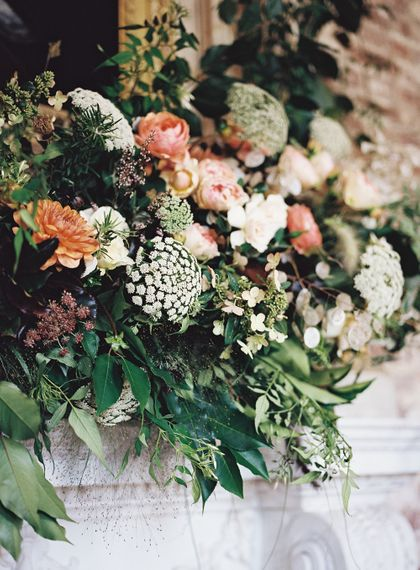 Living Coral, White & Greenery Wedding Flowers | Elegant Summer Inspiration at St Giles House, Dorset by Jessica Roberts Design   Imogen Xiana Photography