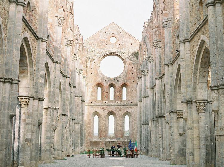 Borgo Santo Pietro Open Air Church in Tuscany, Italy