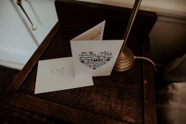 Welsh wedding card