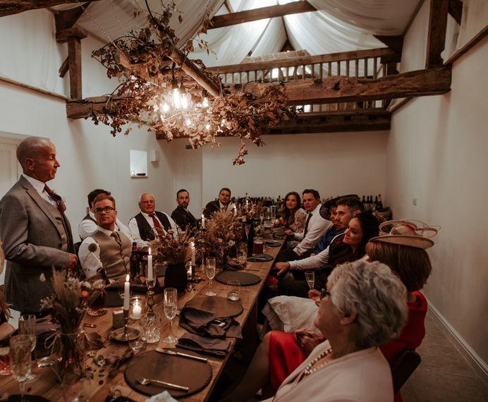 Wedding speeches at September 2020 wedding