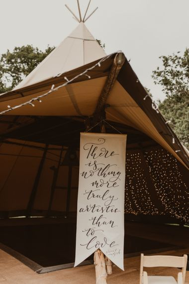 Quote wedding sign