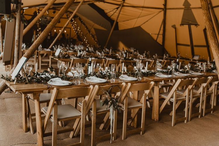 Teepee for wedding breakfast
