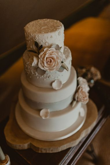 Floral wedding cake topper