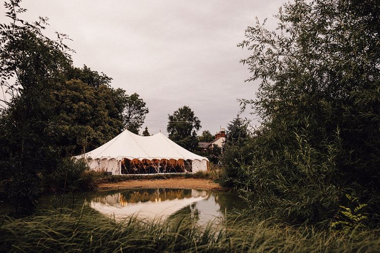 Sperry Tent Wedding Reception by the Lake