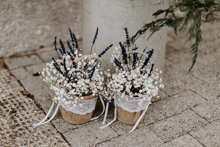 Wild flower wedding bouquets