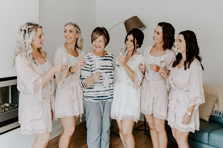 Bridal party getting ready robes