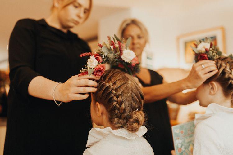 Flower girls for Devonshire wedding with Eliza Jane Howell bride dress