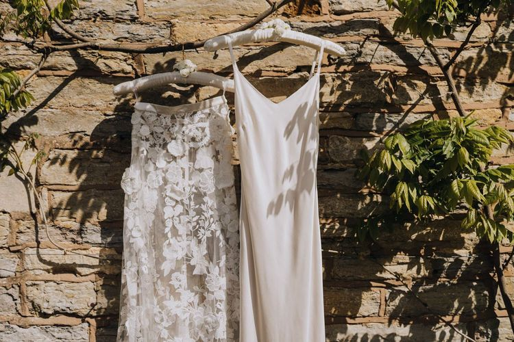 Bridal Two Piece from Halfpenny London with Camisole Satin Slip and Applique Floral Skirt