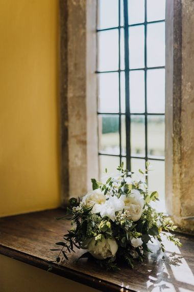 White Wedding Flowers  with Natural Colours and Cow Parsley