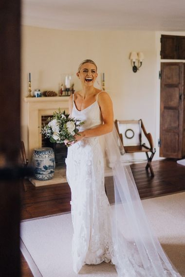 Bridal Two Piece from Halfpenny London with Homemade Veil