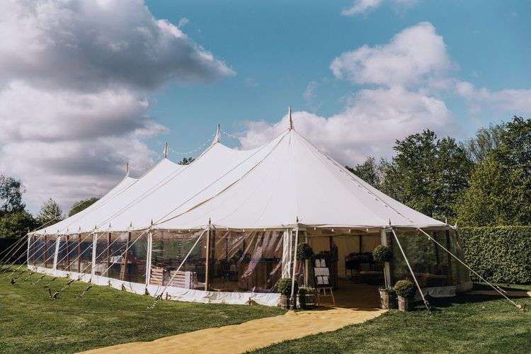 Open Sided Marquee for Garden Party Reception in The Cotswolds