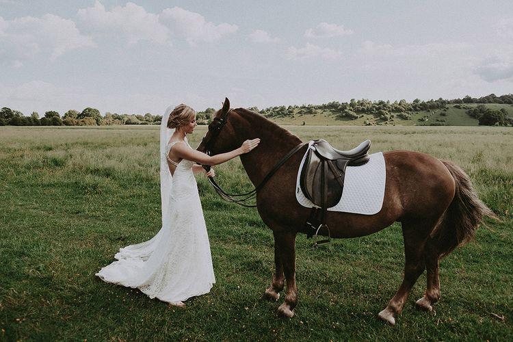 Bride and Pet Horse