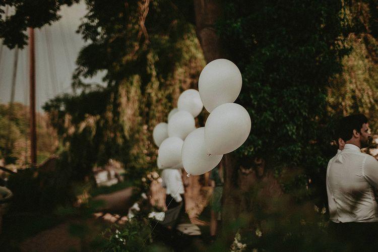 White Balloons Wedding Decor