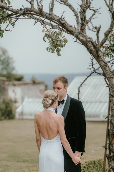 Hair Up Do For Bride At Somerset Wedding Venue