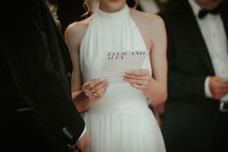 Monochrome Wedding Stationery With Stella McCartney Wedding Dress