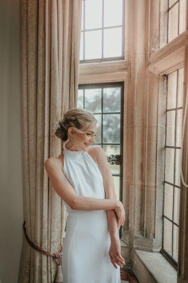 Stella McCartney Wedding Dress With Halterneck And Hair Up