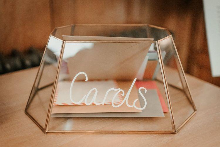 Glass Card Box For Wedding