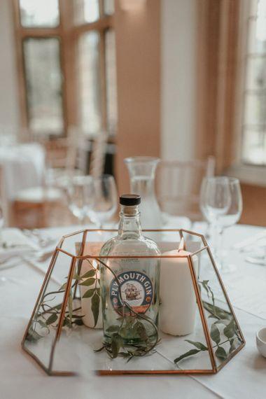 Gin Wedding Table Centrepieces
