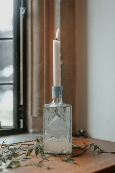 Gin Candle Holders For Wedding At Coombe Lodge