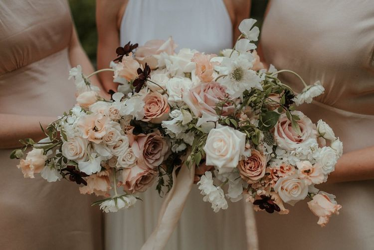 Blush Pink Wedding Bouquets For The Bridal Party
